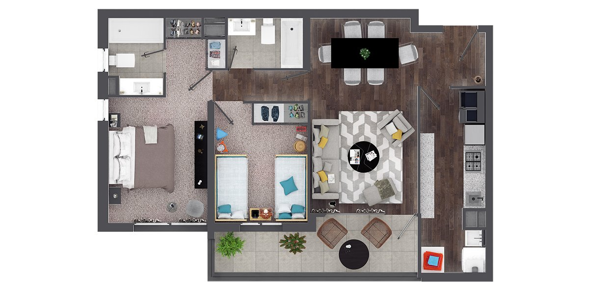 Departamento en Isla Teja - Valdivia 2 Dormitorio y 2 Baños-B3