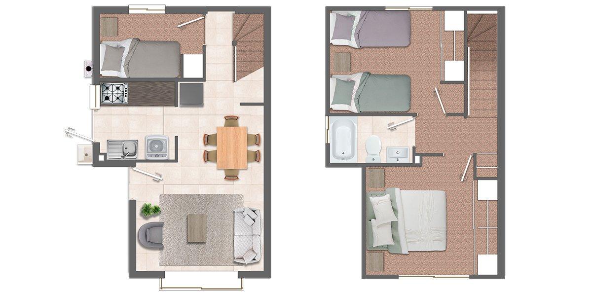Casas dos pisos Chillán