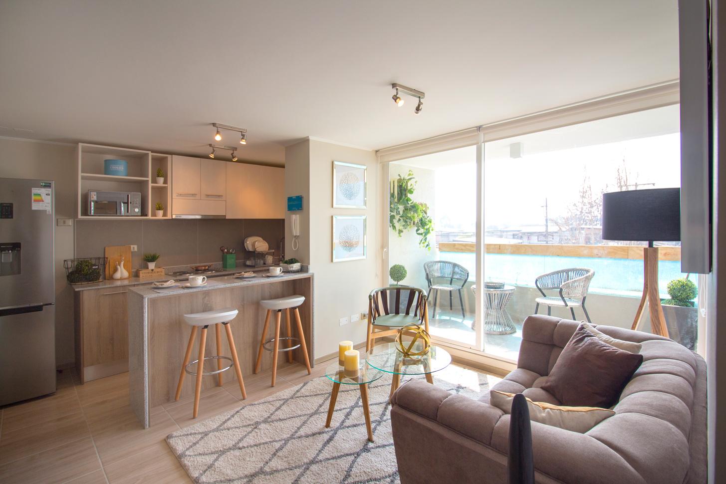 Grupo Inmobiliario Pacal tiene proyectos que cuentan con amplios habitaciones, donde destaca la comodidad del living comedor.