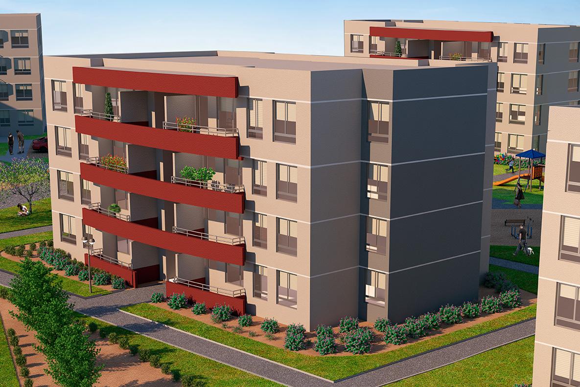Condominio de departamentos con Subsidio Automático DS19 en Puente Alto