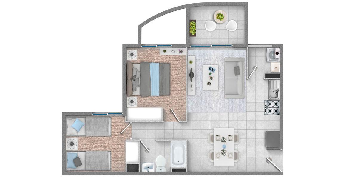 Departamento 2 dormitorios 1 baño, Departamentos en venta, subsidio Habitacional, subsidio ds49, subsidio ds19, subsidio ds01, Ovalle