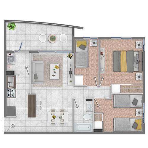condominio-portal-de-azapa-arica-con-subsidio-DS19-depto-3dorm-1baños
