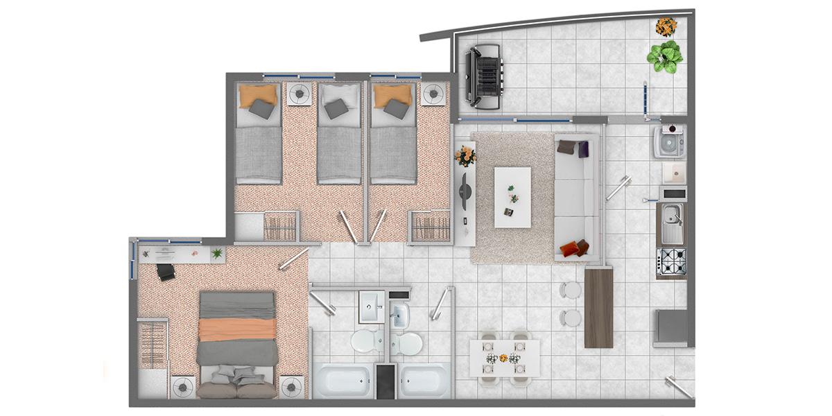 condominio-portal-de-azapa-arica-con-subsidio-DS19-depto-3dorm-2baños