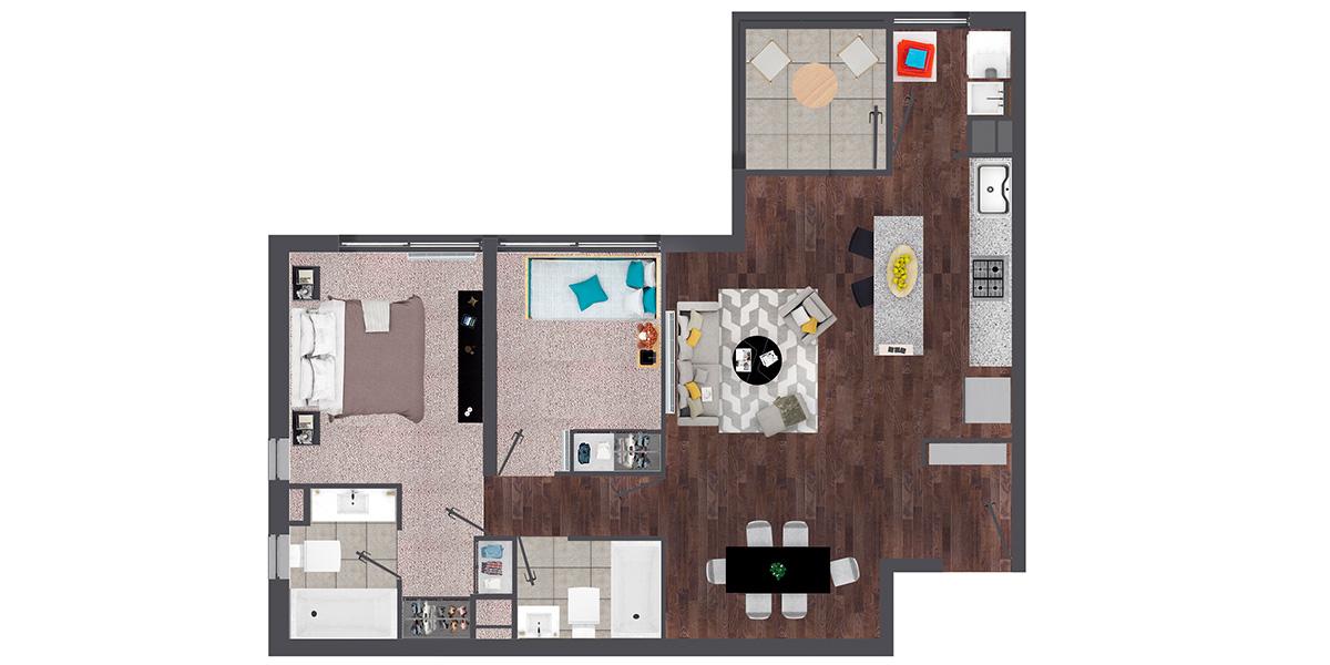 Departamento en Isla Teja - Valdivia 2 Dormitorio y 2 Baños-B4