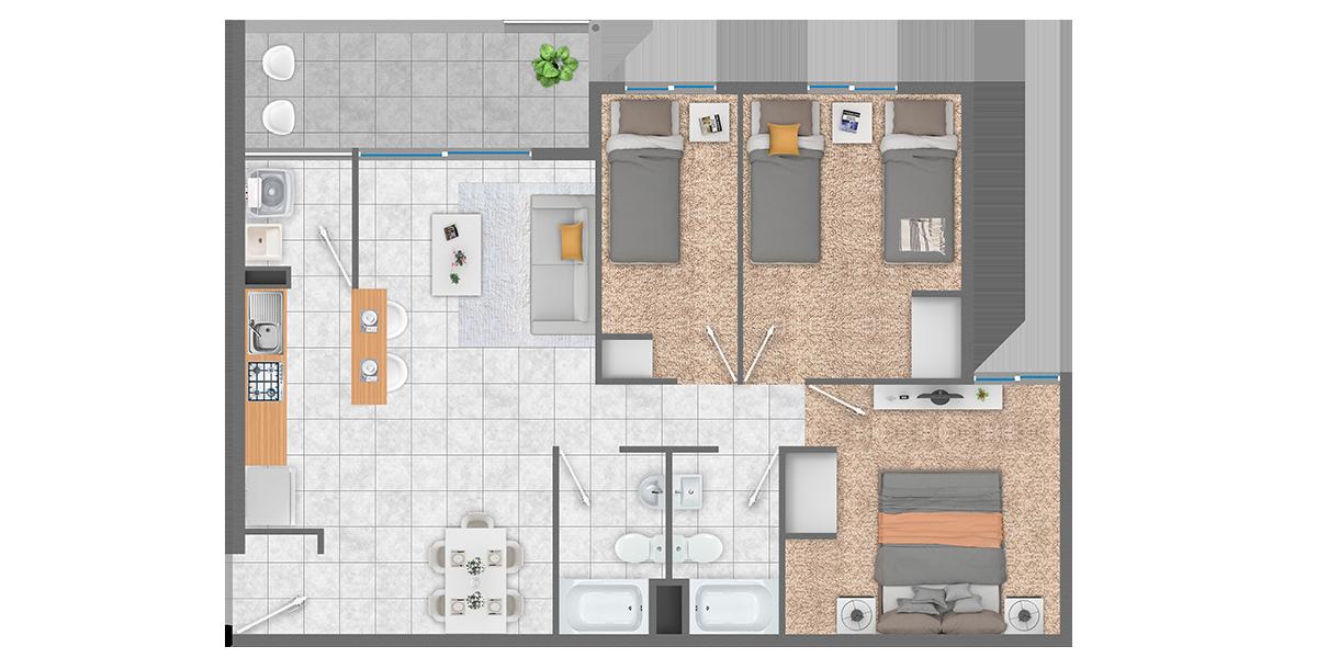 Condominio de Departamentos en Curauma (Placilla) con Subsidio Automático DS19