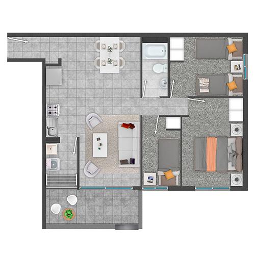 Condominio de departamentos con subsidio DS19 en Copiapó