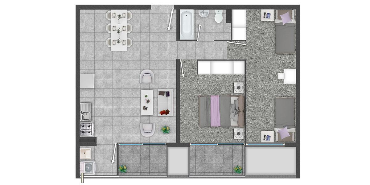 Condominio de departamentos con Subsidio Automático DS19 en Quilpué